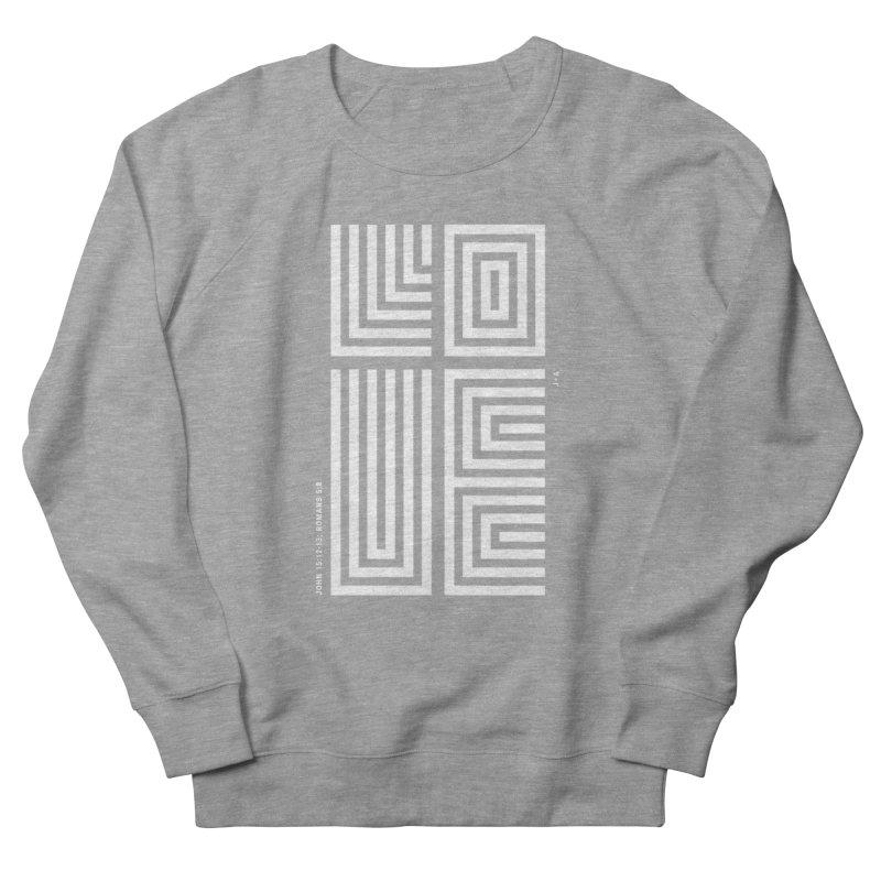 LOVE CROSS (WHITE) Women's French Terry Sweatshirt by Jamus + Adriana