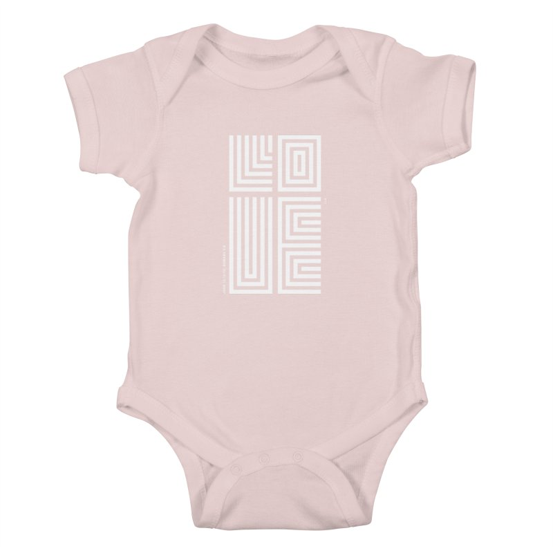 LOVE CROSS (WHITE) Kids Baby Bodysuit by Jamus + Adriana