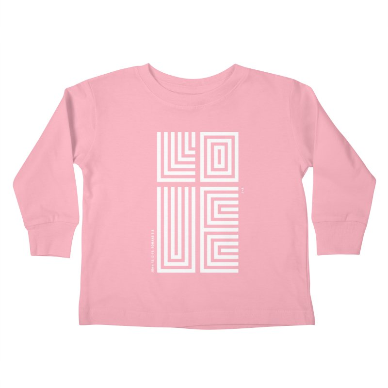 LOVE CROSS (WHITE) Kids Toddler Longsleeve T-Shirt by Jamus + Adriana