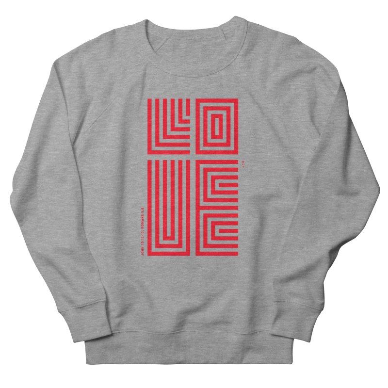 LOVE CROSS (RED) Women's Sweatshirt by Jamus + Adriana