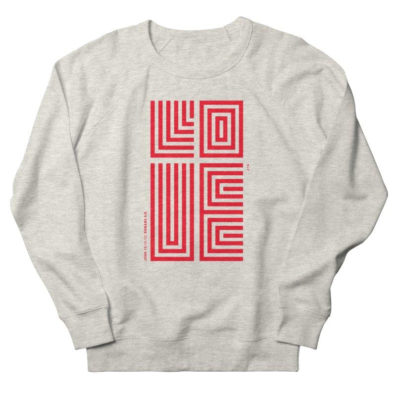 LOVE CROSS (RED) Men's Sweatshirt by Jamus + Adriana