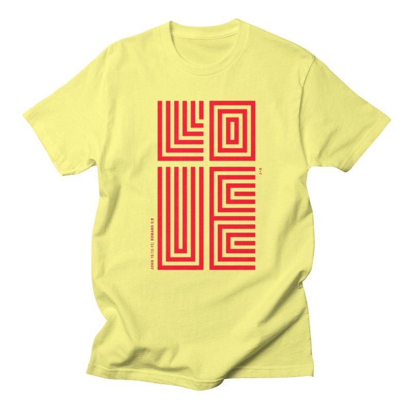 LOVE CROSS (RED) Men's T-Shirt by Jamus + Adriana