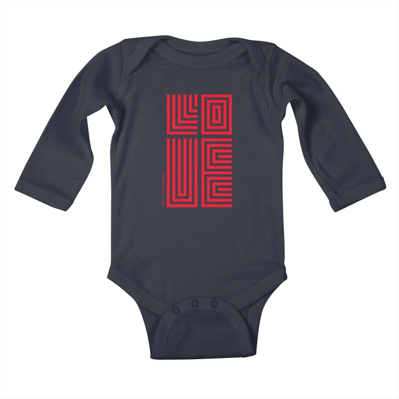 LOVE CROSS (RED) Kids Baby Longsleeve Bodysuit by Jamus + Adriana
