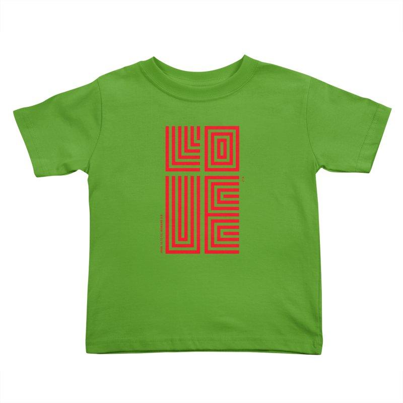 LOVE CROSS (RED) Kids Toddler T-Shirt by Jamus + Adriana