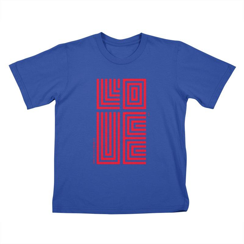 LOVE CROSS (RED) Kids T-Shirt by Jamus + Adriana