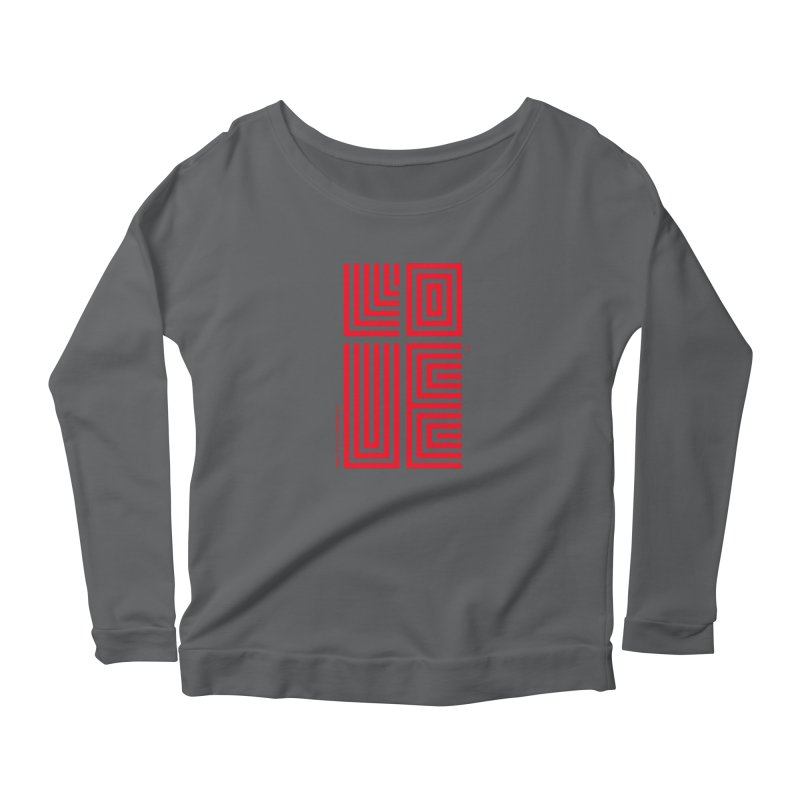LOVE CROSS (RED) Women's Longsleeve T-Shirt by Jamus + Adriana