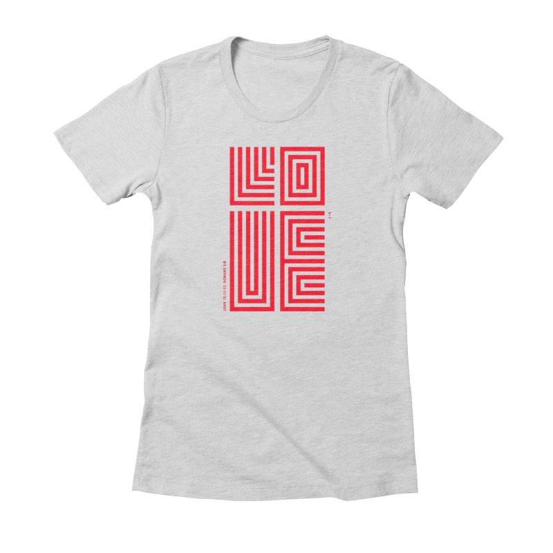 LOVE CROSS (RED) Women's T-Shirt by Jamus + Adriana