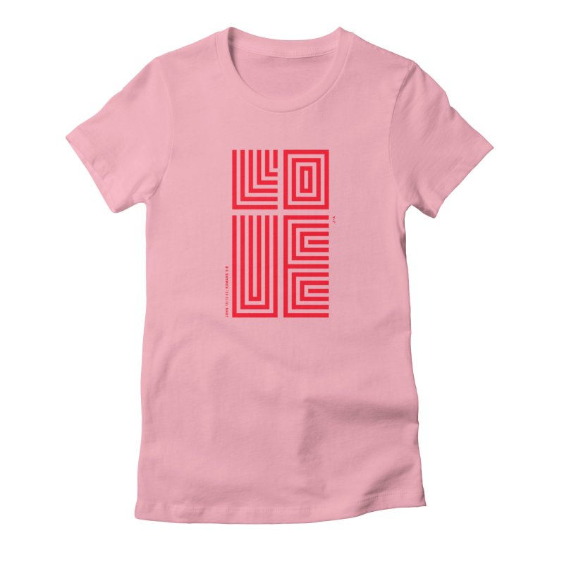 LOVE CROSS (RED) Women's T-Shirt by Jamus + Adriana
