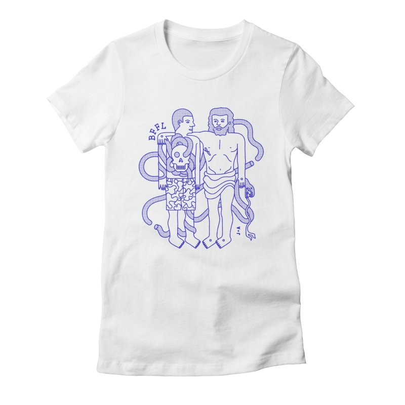 Best friends for life Women's Fitted T-Shirt by Jamus + Adriana