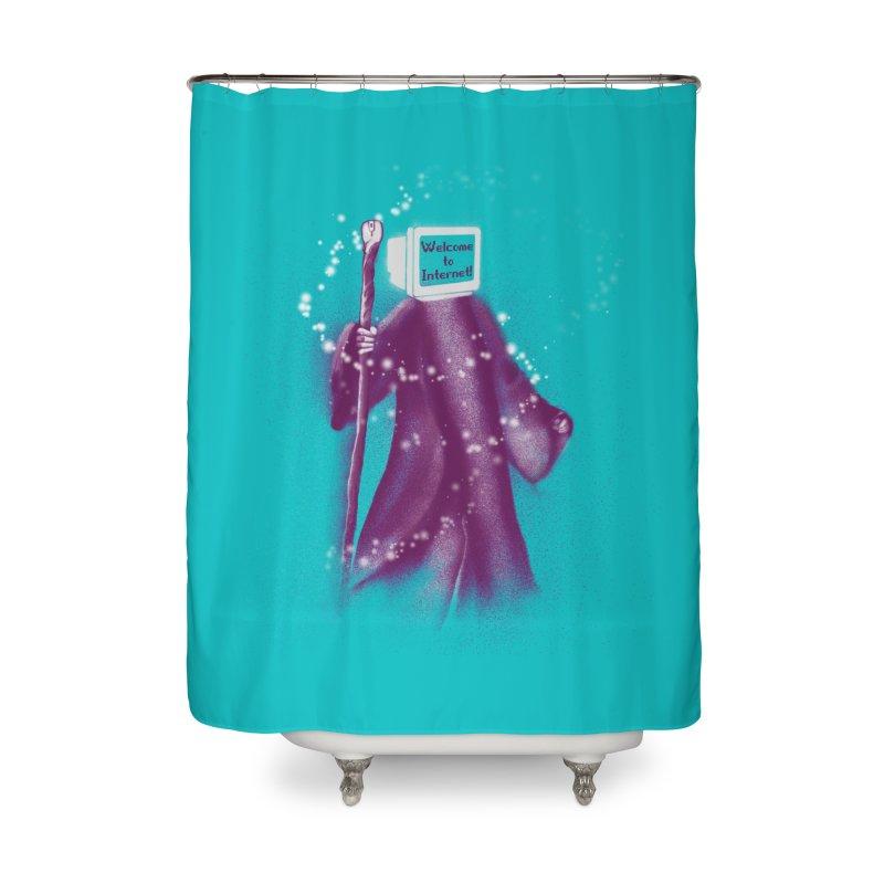Internet Wizard Home Shower Curtain by Jana Artist Shop