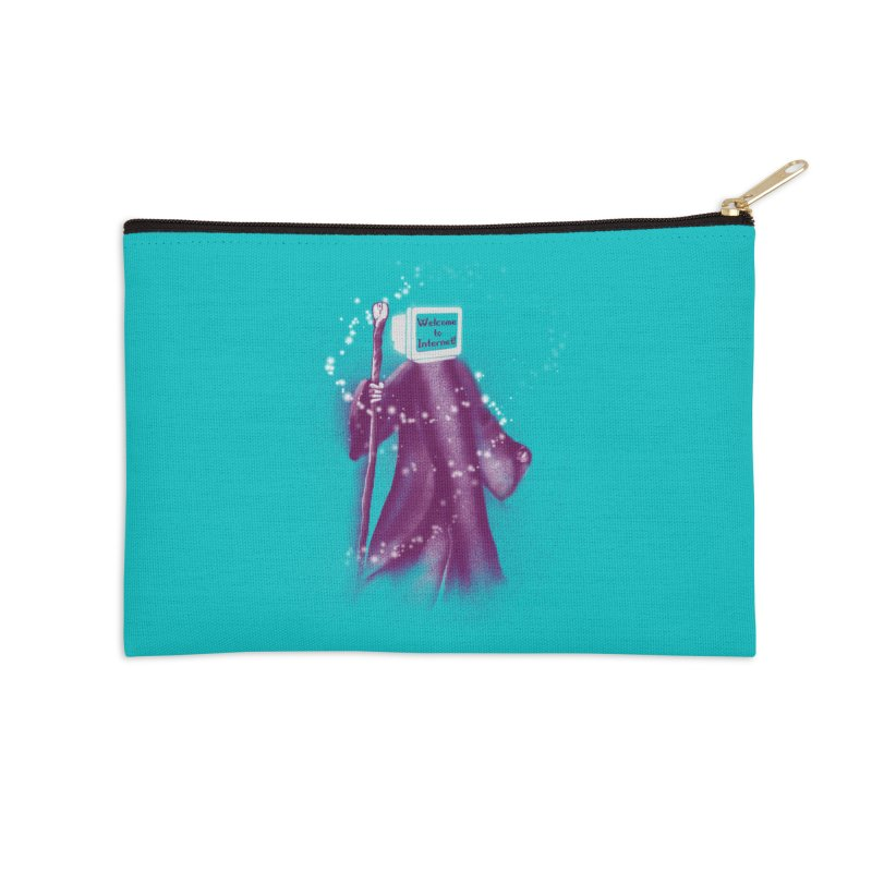 Internet Wizard Accessories Zip Pouch by Jana Artist Shop