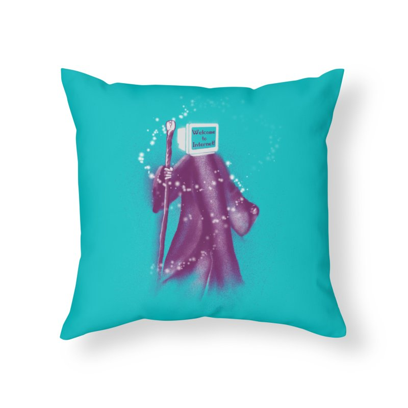 Internet Wizard Home Throw Pillow by Jana Artist Shop