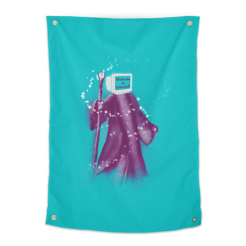 Internet Wizard Home Tapestry by Jana Artist Shop