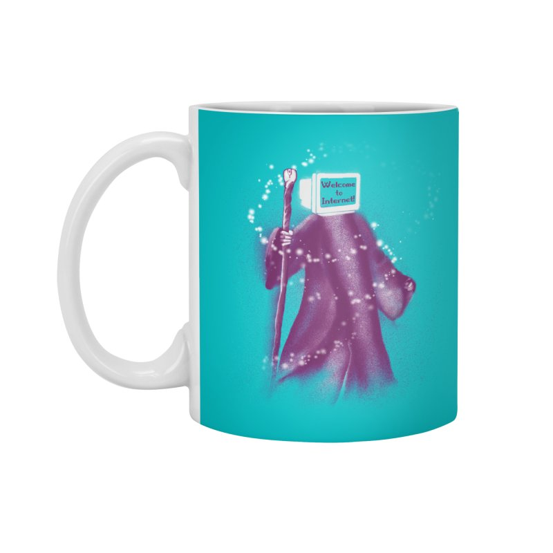 Internet Wizard Accessories Mug by Jana Artist Shop