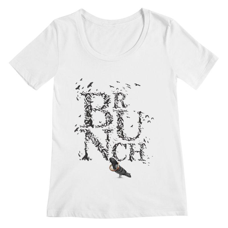 Brunch Women's Scoopneck by Jana Artist Shop