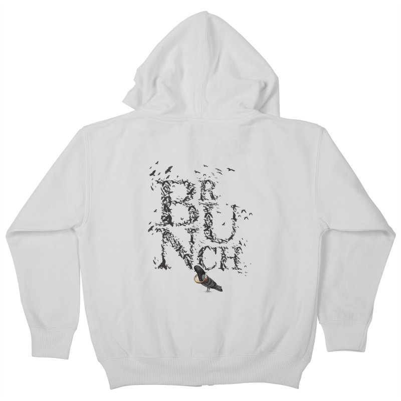 Brunch Kids Zip-Up Hoody by Jana Artist Shop