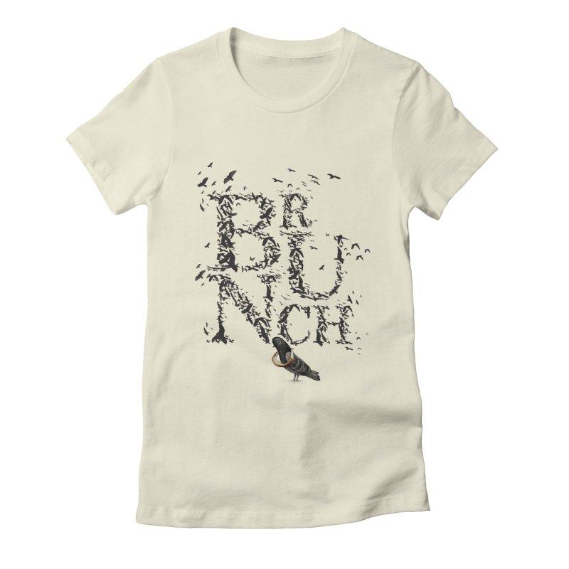 Brunch Women's Fitted T-Shirt by Jana Artist Shop