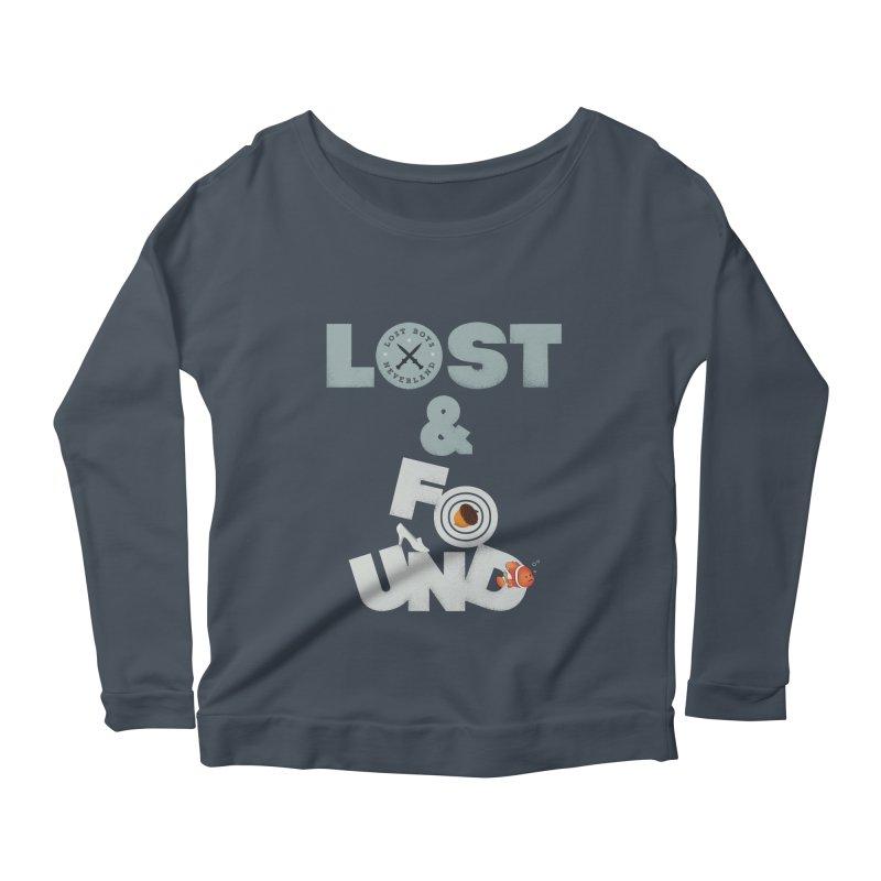 Lost & Found Women's Longsleeve Scoopneck  by Jana Artist Shop