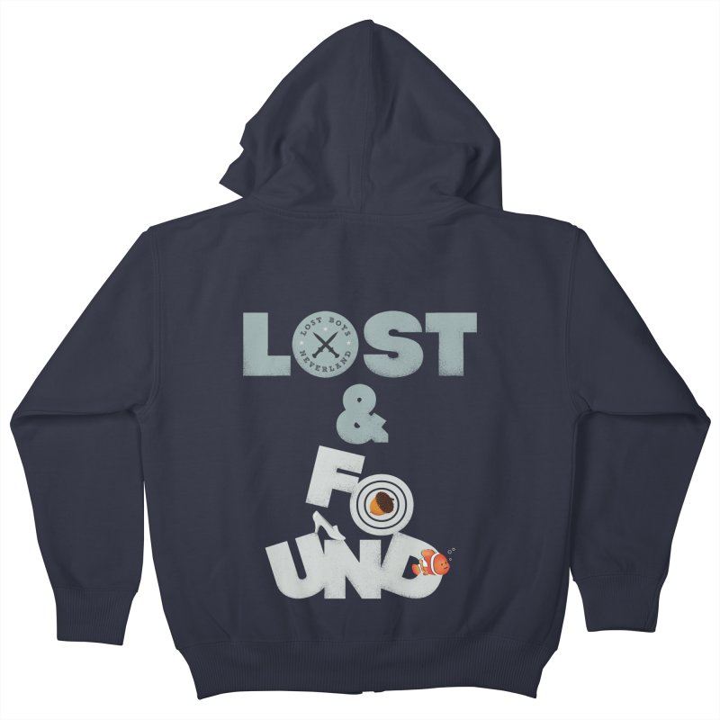 Lost & Found Kids Zip-Up Hoody by Jana Artist Shop