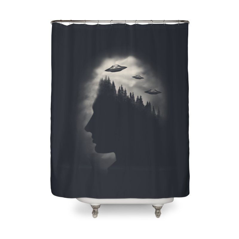 He Believes Home Shower Curtain by Jana Artist Shop