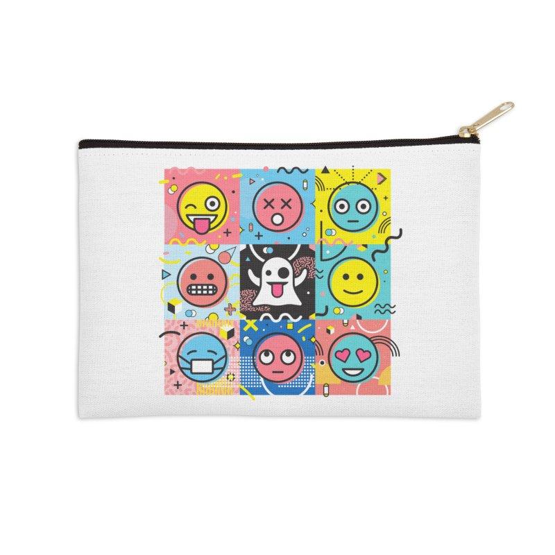 Mixed Feelings Accessories Zip Pouch by Jana Artist Shop