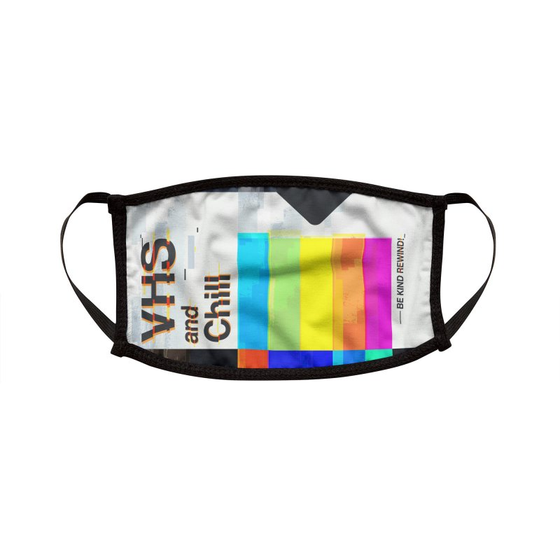 VHS And Chill Accessories Face Mask by Jana Artist Shop