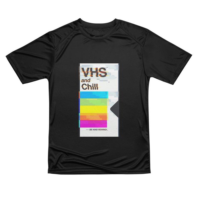 VHS And Chill Men's T-Shirt by Jana Artist Shop