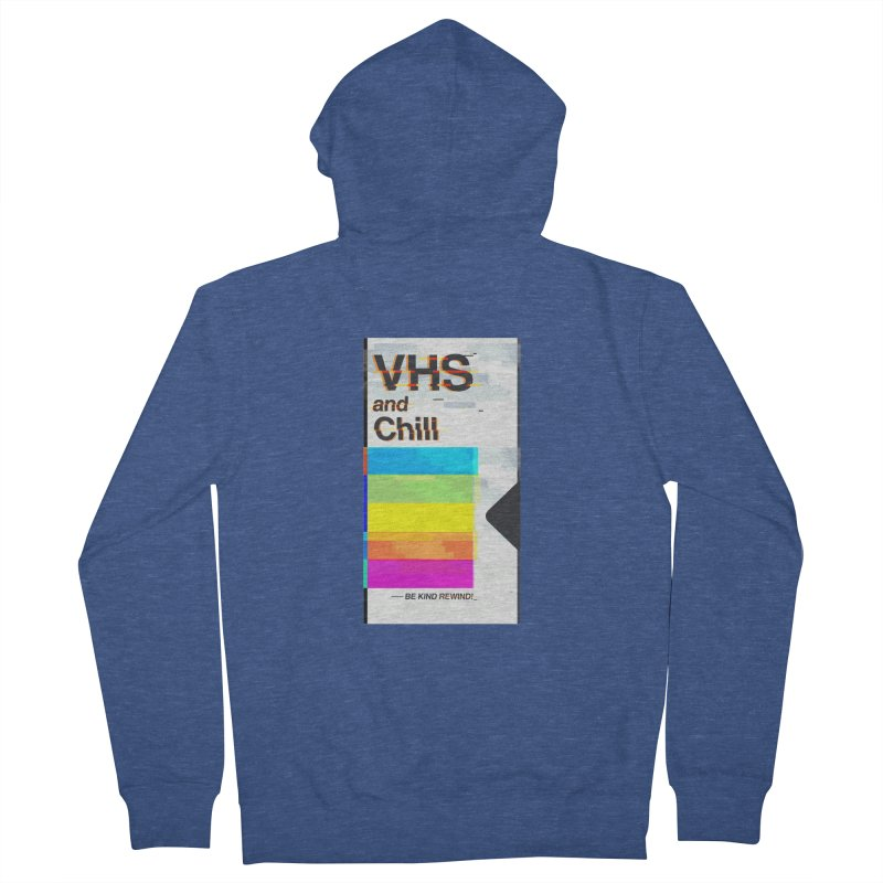VHS And Chill Men's Zip-Up Hoody by Jana Artist Shop