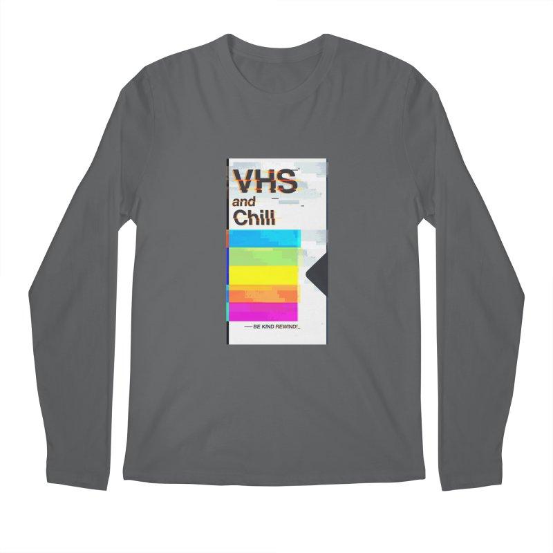 VHS And Chill Men's Longsleeve T-Shirt by Jana Artist Shop
