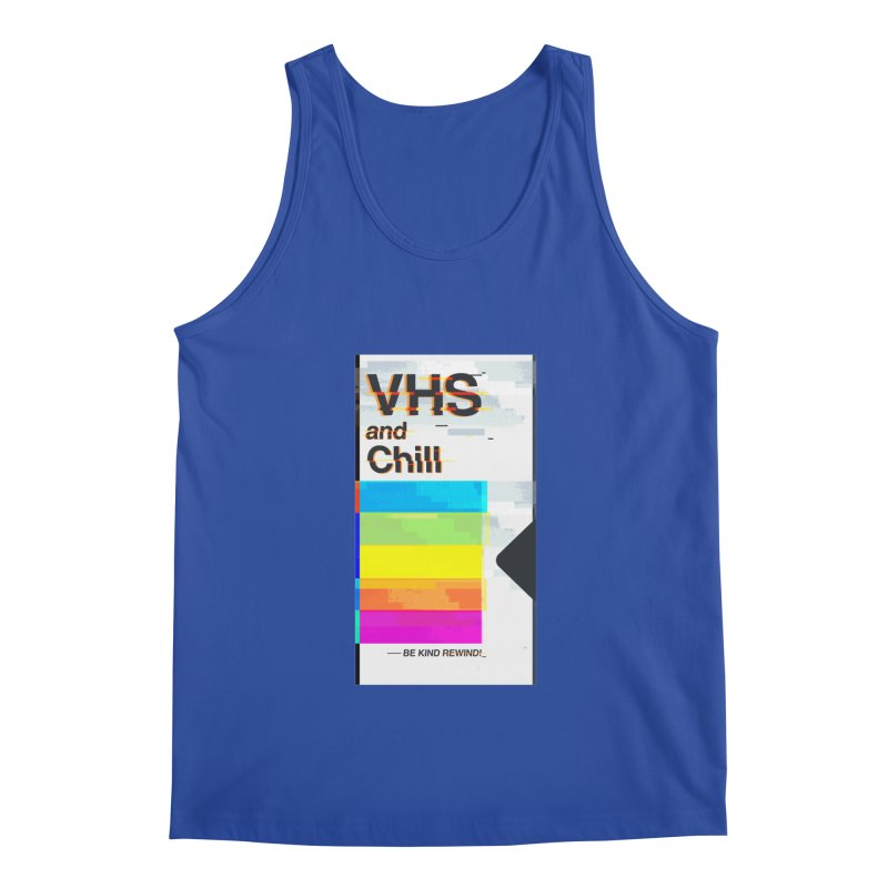 VHS And Chill Men's Tank by Jana Artist Shop