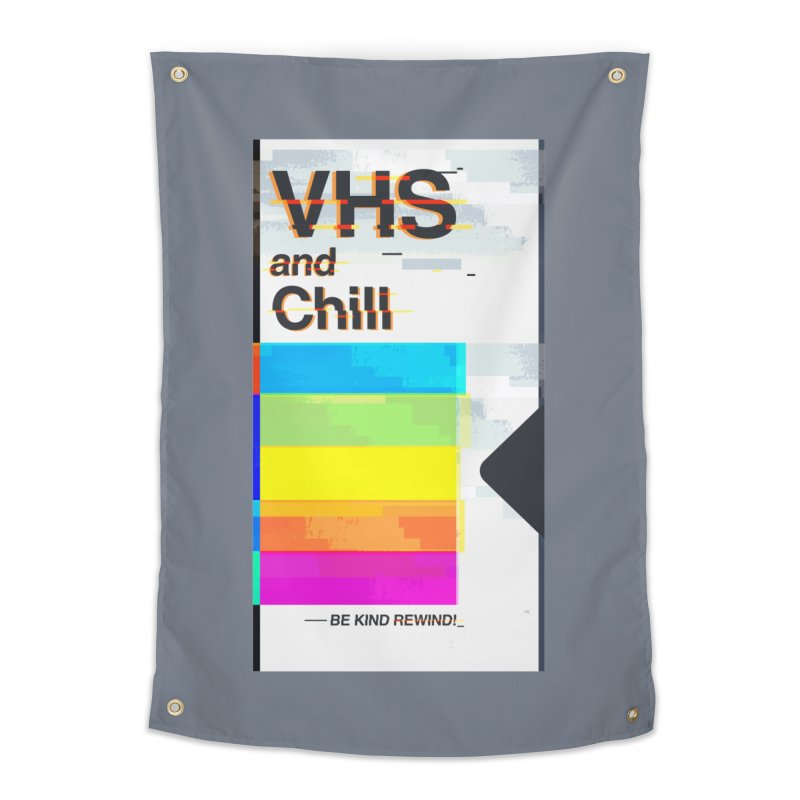 VHS And Chill Home Tapestry by Jana Artist Shop