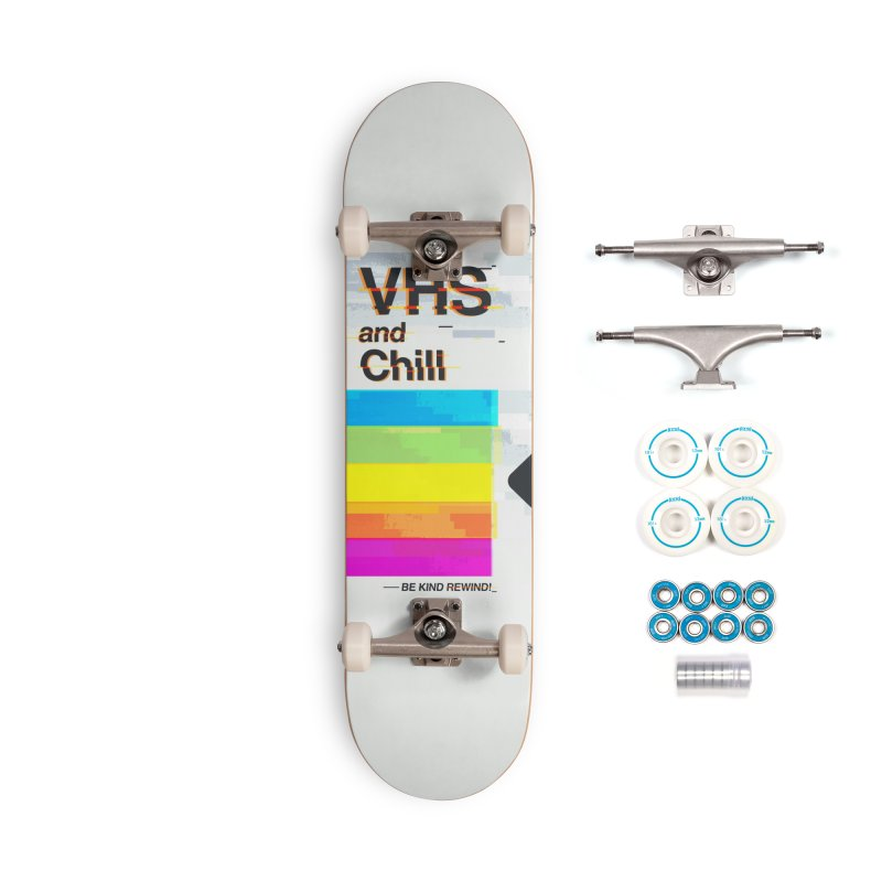 VHS And Chill Accessories Skateboard by Jana Artist Shop