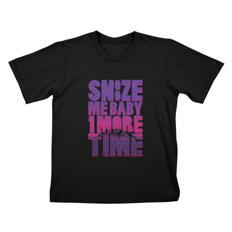 Snooze Me Baby One More Time Kids T-shirt by Jana Artist Shop