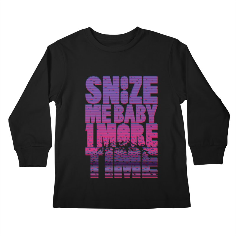 Snooze Me Baby One More Time Kids Longsleeve T-Shirt by Jana Artist Shop