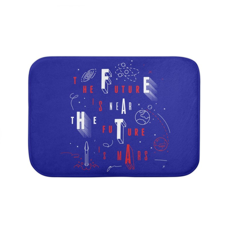 The Future is Mars Home Bath Mat by Jana Artist Shop