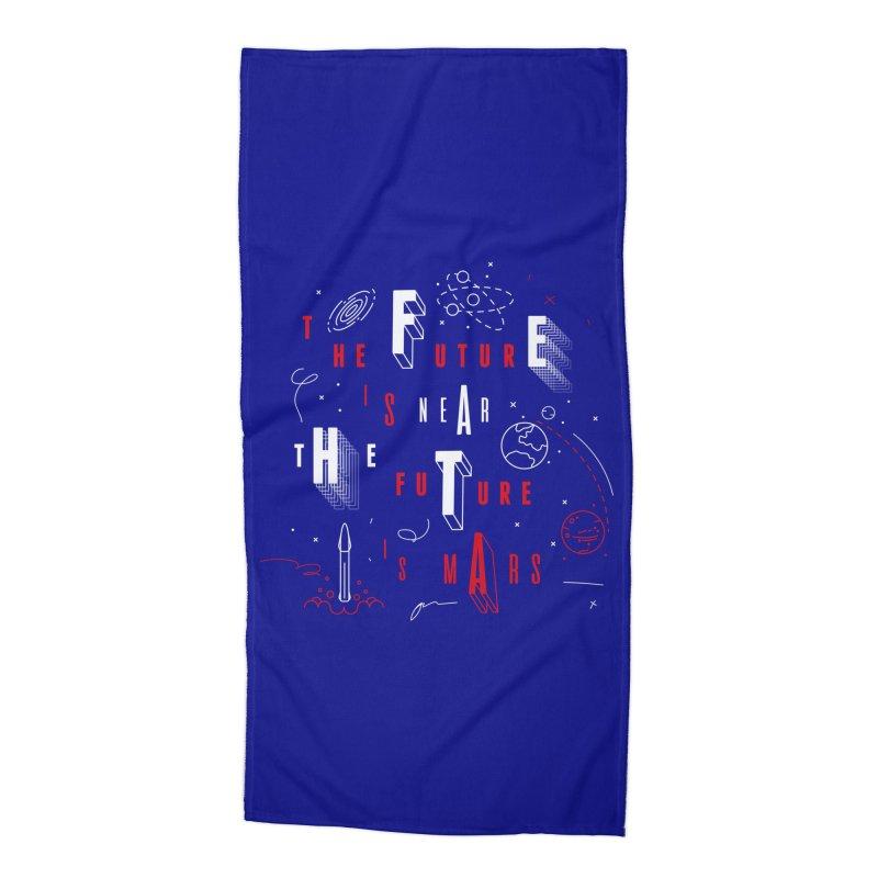 The Future is Mars Accessories Beach Towel by Jana Artist Shop