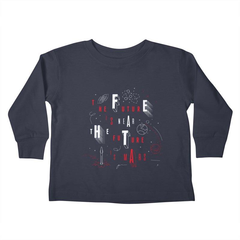 The Future is Mars Kids Toddler Longsleeve T-Shirt by Jana Artist Shop