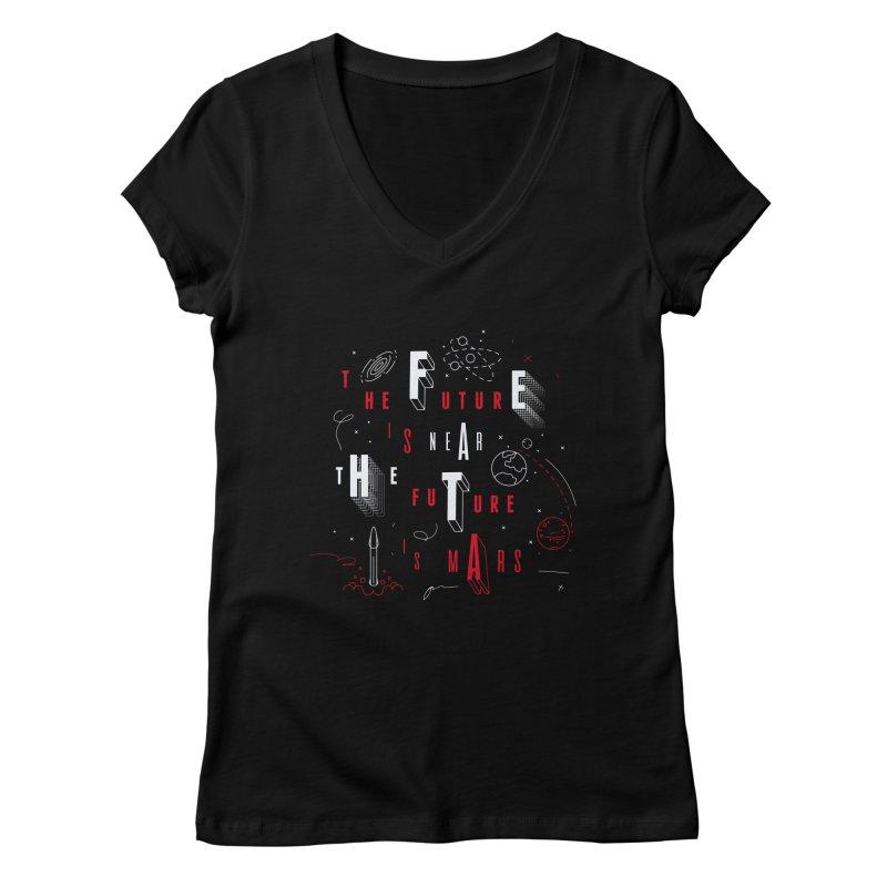 The Future is Mars Women's V-Neck by Jana Artist Shop