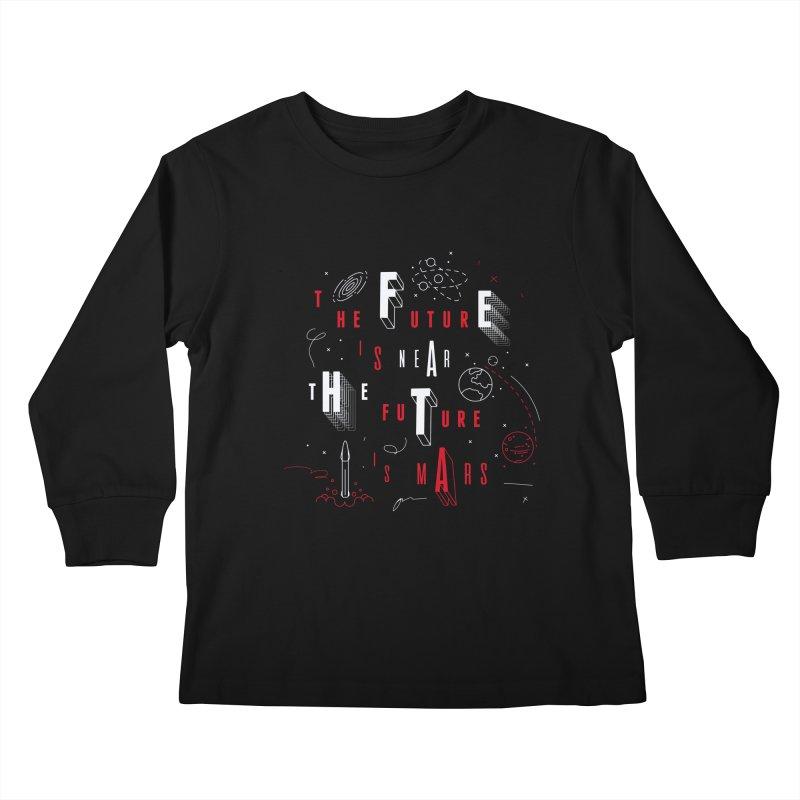 The Future is Mars Kids Longsleeve T-Shirt by Jana Artist Shop