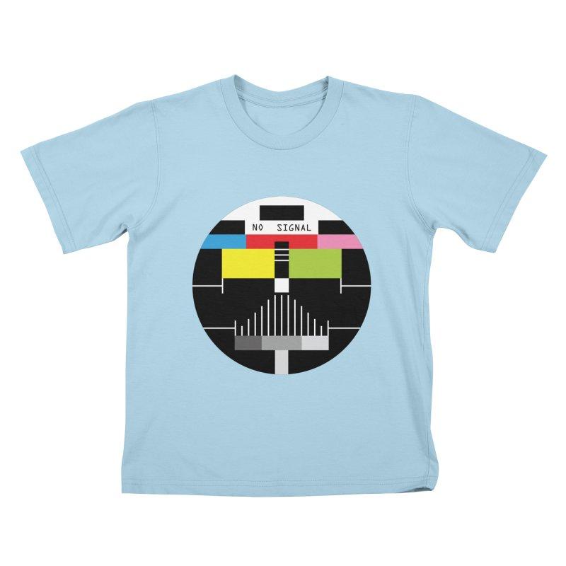 The Dark Side of the TV Kids T-shirt by Jana Artist Shop