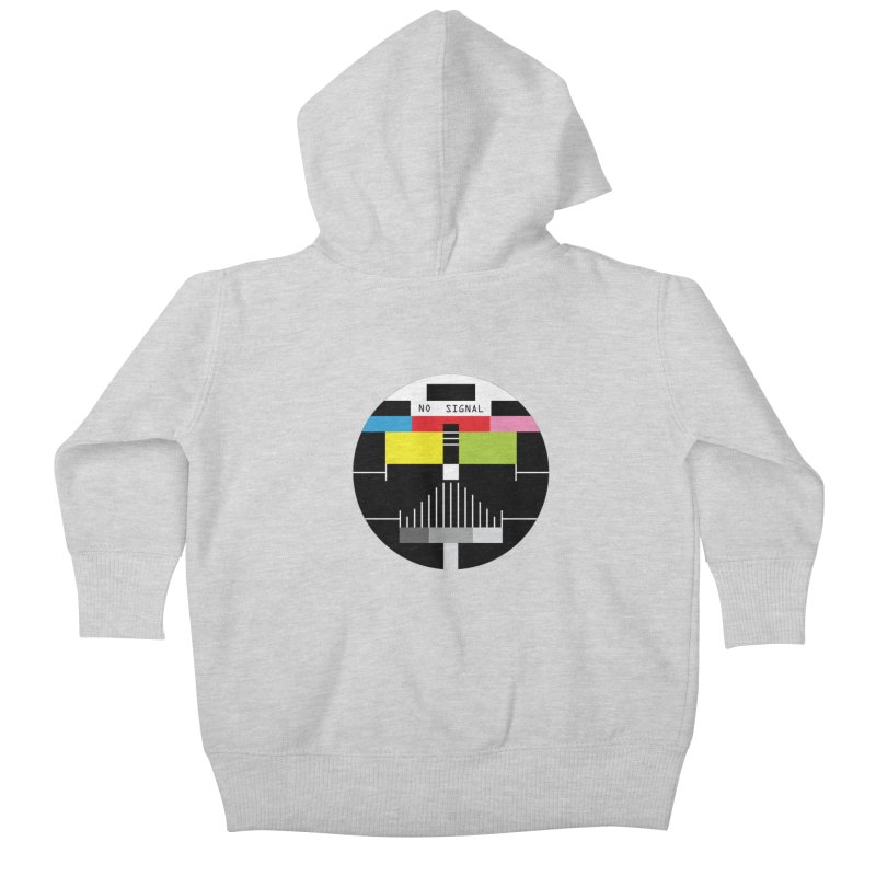 The Dark Side of the TV Kids Baby Zip-Up Hoody by Jana Artist Shop