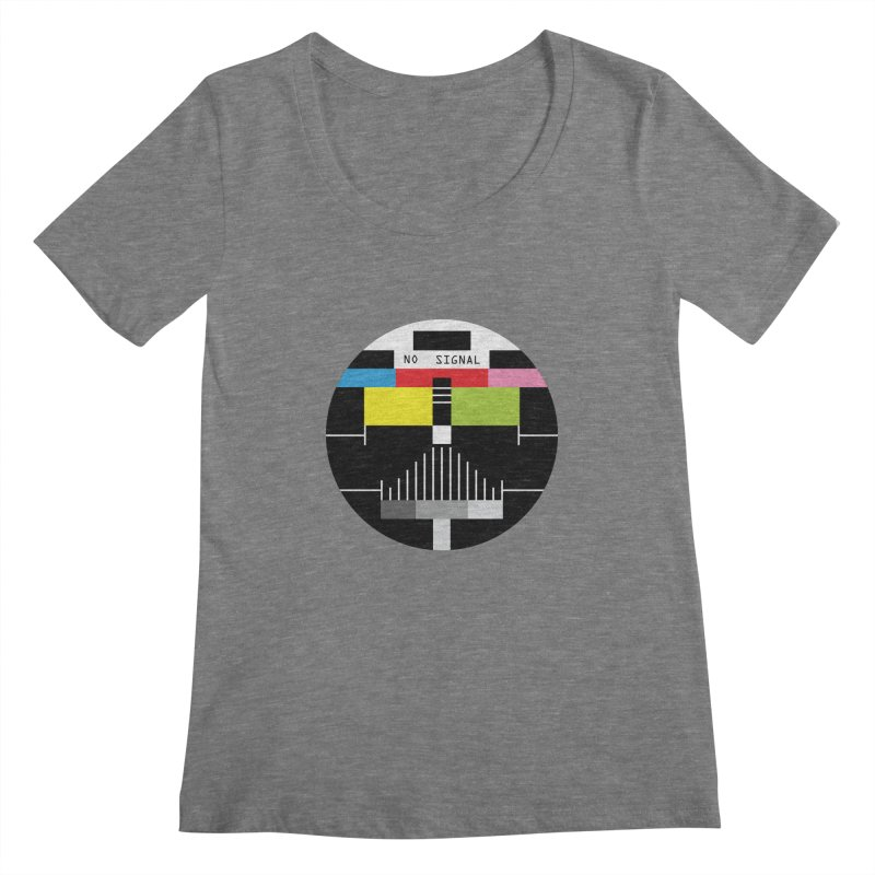 The Dark Side of the TV Women's Scoopneck by Jana Artist Shop