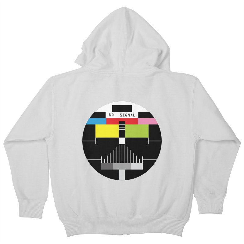 The Dark Side of the TV Kids Zip-Up Hoody by Jana Artist Shop