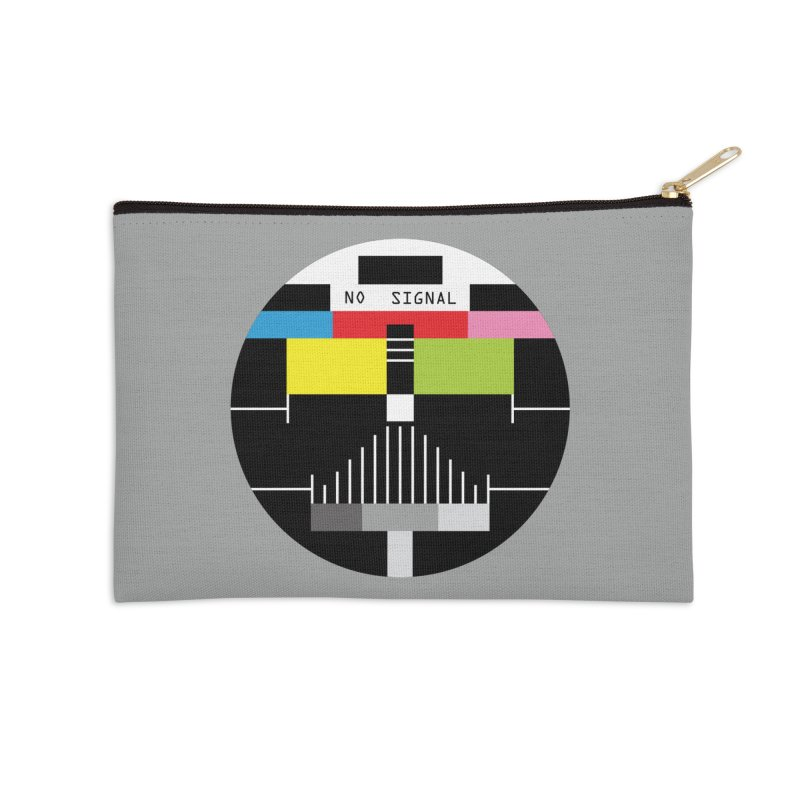 The Dark Side of the TV Accessories Zip Pouch by Jana Artist Shop