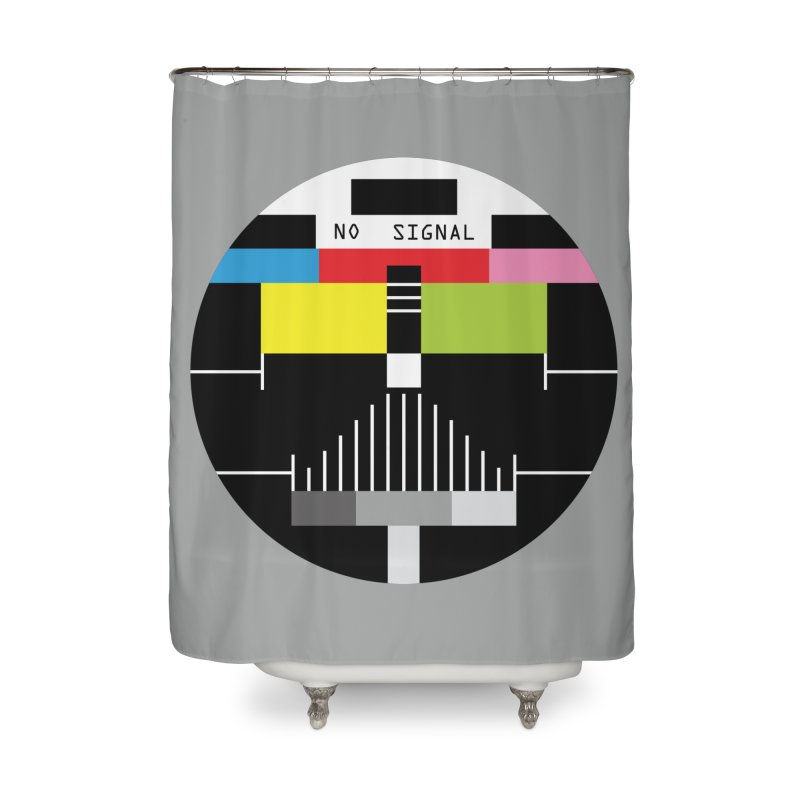 The Dark Side of the TV Home Shower Curtain by Jana Artist Shop