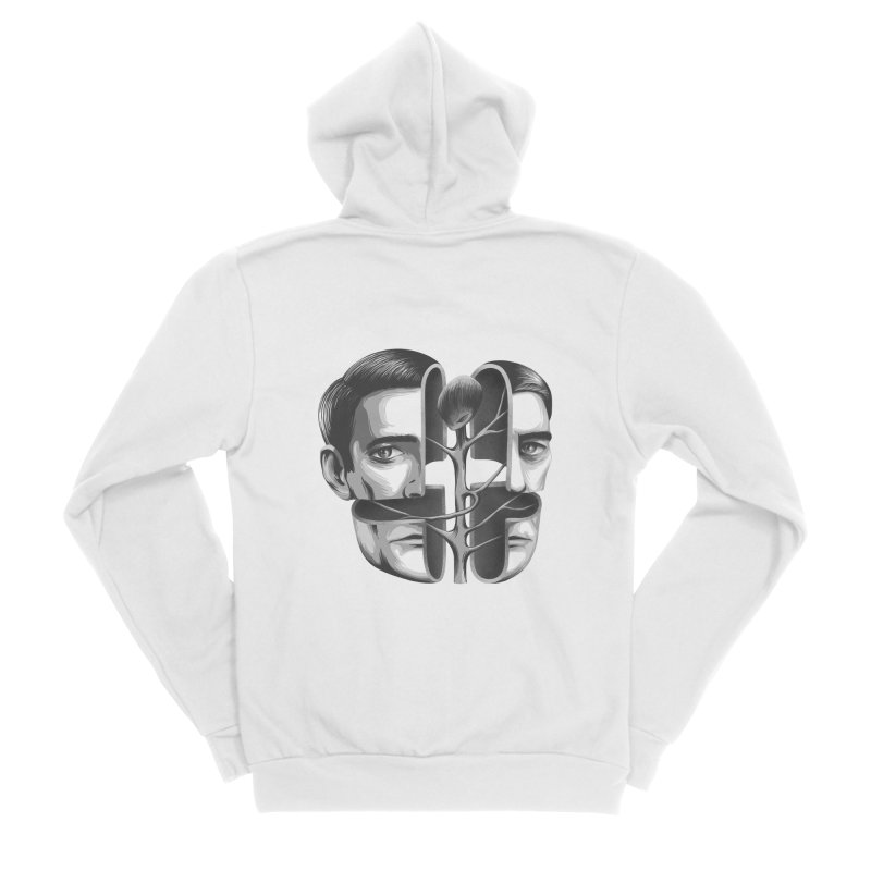 The Metamorphosis of Dale Cooper Men's Sponge Fleece Zip-Up Hoody by Jana Artist Shop