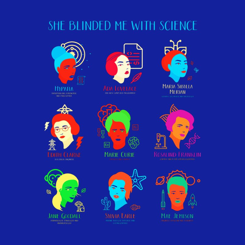 She Blinded Me With Science Men's T-Shirt by Jana Artist Shop