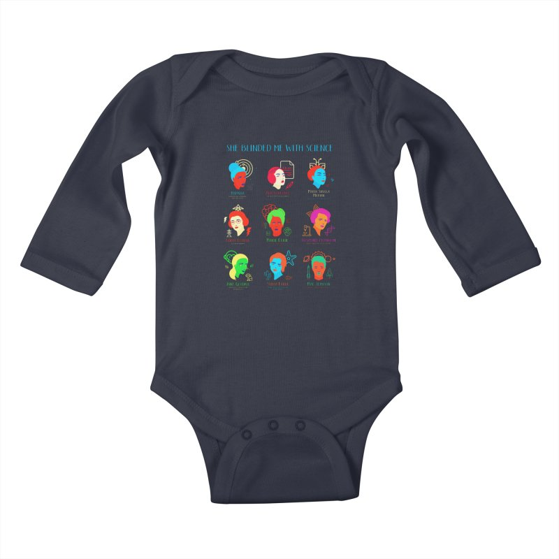 She Blinded Me With Science Kids Baby Longsleeve Bodysuit by Jana Artist Shop