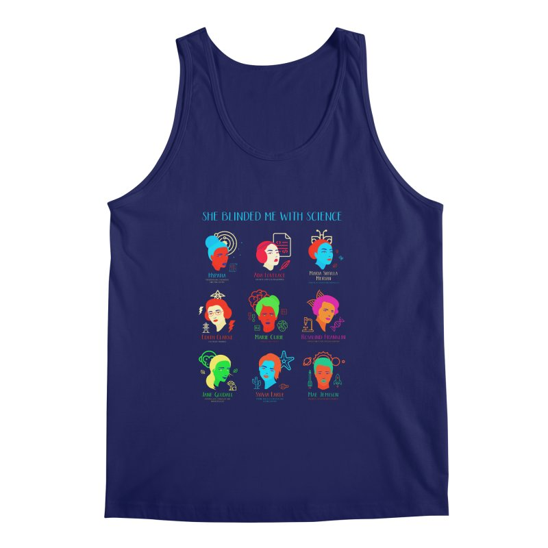 She Blinded Me With Science Men's Tank by Jana Artist Shop