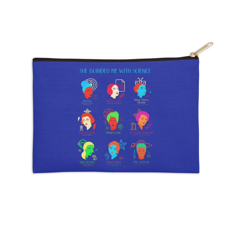 She Blinded Me With Science Accessories Zip Pouch by Jana Artist Shop